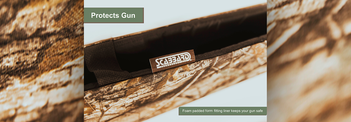 Scabbard: Protects Guns. Foam padded form fitting liner keeps your guns safe.