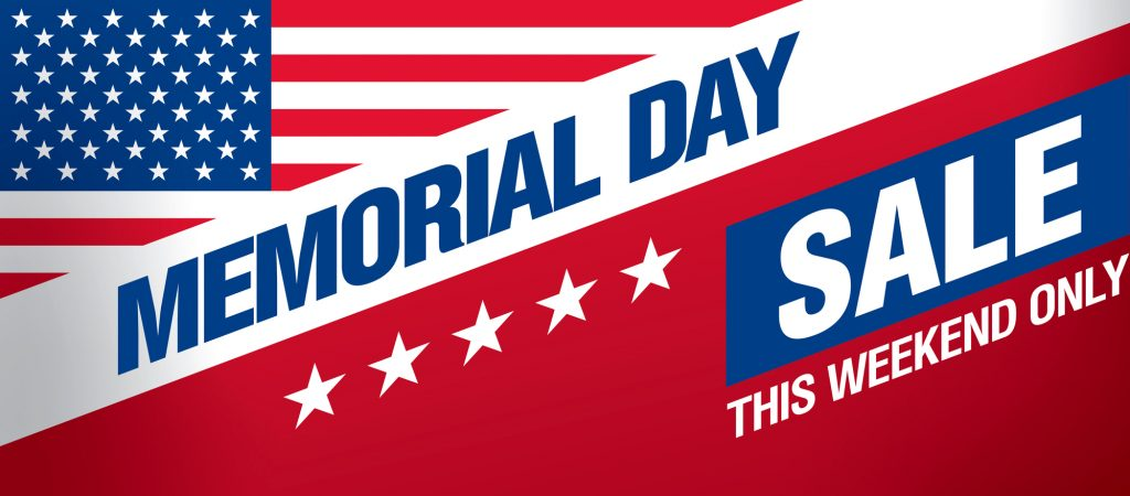 Memorial Day Sale - This Weekend Only